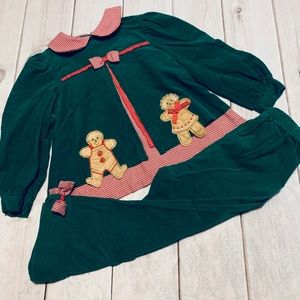 Green Gingerbread Corduroy Outfit